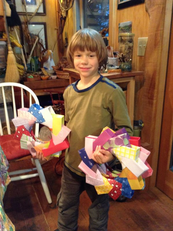 A grandson who is an origami wizard