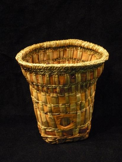 How To Weave A Basket Out Of Cattails : Gallery woven and folded bark melinda west
