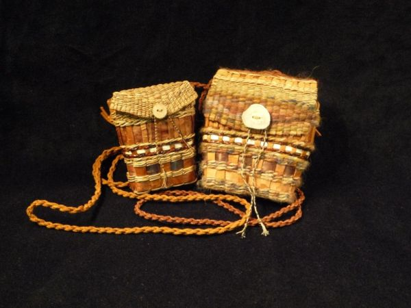 Woven Cedar Bark Satchel or Purse