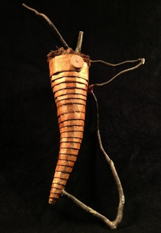Cedar Bark Coil on Hazelnut Limb
