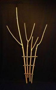 Pealed Big Leaf Maple, Bonsai Wire, Waxed Thread