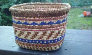 Cedar Bark and Bear Grass Basket