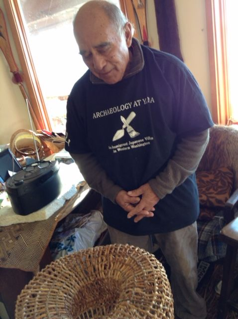 Ed Carriere with his Shrimp Trap Basket
