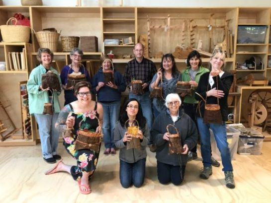 Cedar Tree To Pouch Workshop at BARN 2017