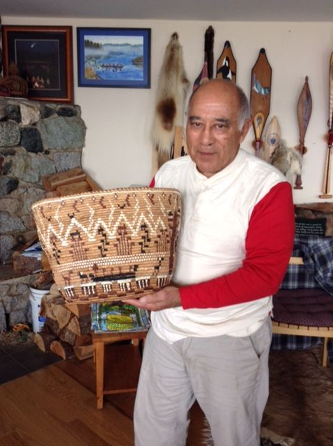 Ed Carriere with his Life Story Basket