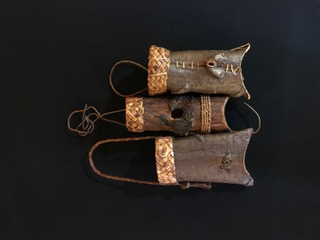 Folded Cedar Bark Baskets by Melinda West