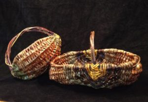 Ribbed baskets made with various PNW materials