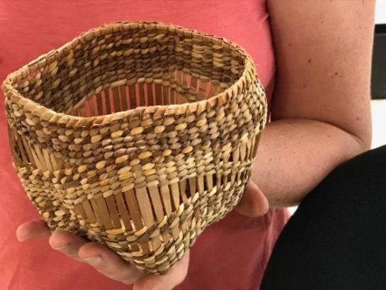 Polly Adams Sutton Sculptural Weaving With NW Naturals