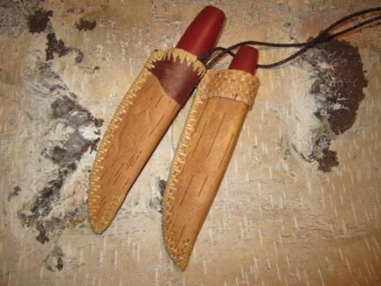 Karen Sherwood's Birch Bark Knife Sheaths
