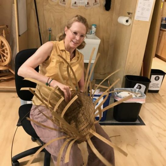 Weaving and shaping the sides