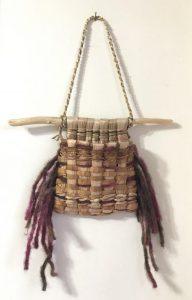 Cattail, Cedar & Iris Pouch by Melinda West
