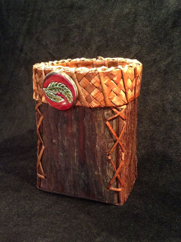 Folded Cedar Bark Box