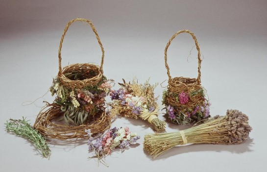 Wild Twined Herb and Flower Basket