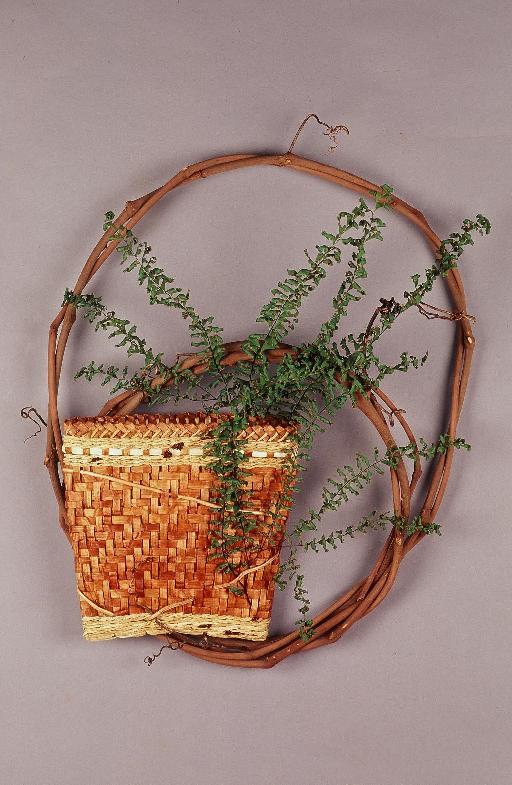 Woven Cedar Wall Basket