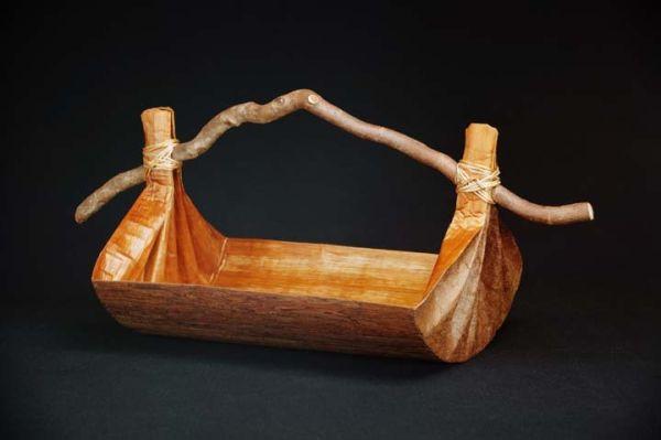 Cedar Canoe Bailer-Style Vessel, Large