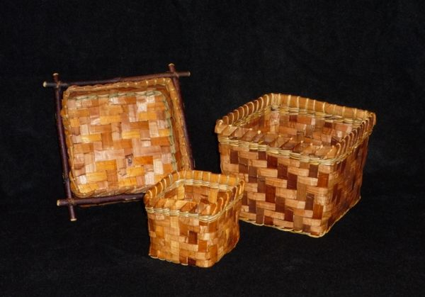 Woven Cedar Bark Baskets