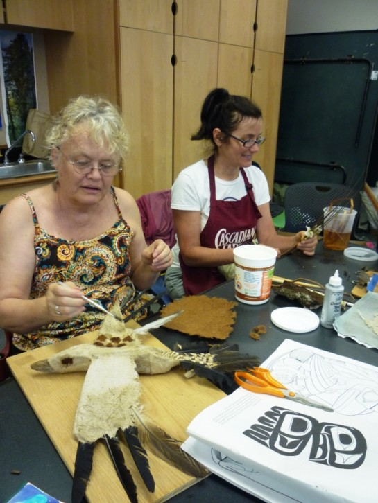 Jewel and Joan Hard at Work