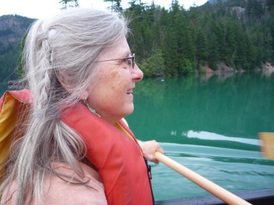 Maureen Paddles on Lake Diablo