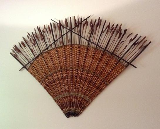 Cedar and Iris Pod Fan