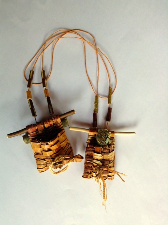 2014 Cedar Pouch Treasure Necklace