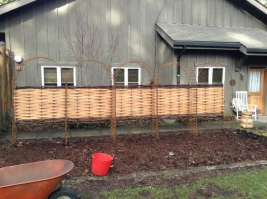 Finished fence.