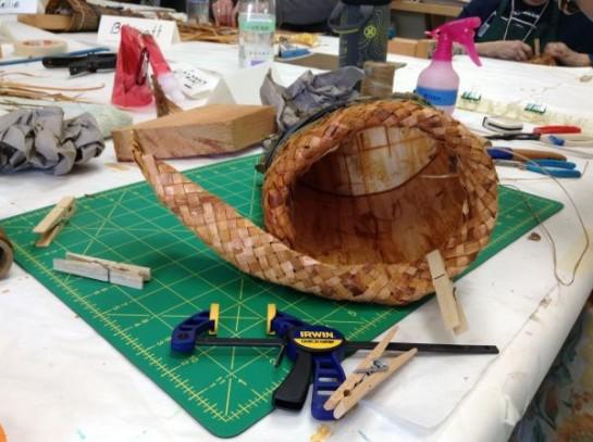 Plaited Inner Cedar Bark Rim