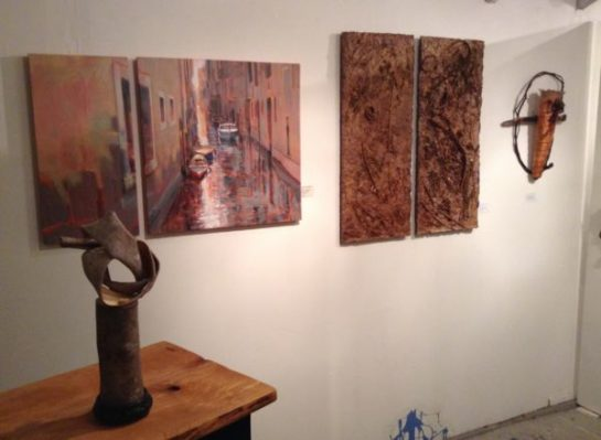 Paintings by Sydni Sterling, Palnt Fiber Works by Melinda West