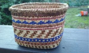 Cedar Bark and Bear Grass Basket
