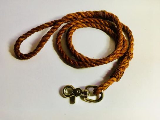 Sue Skelly Cedar Bark Dog Leash