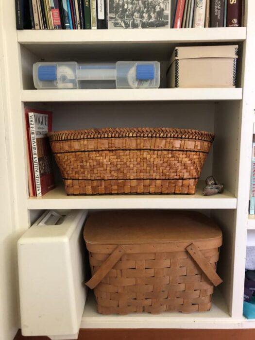 Cedar Yarn Basket in it's new home