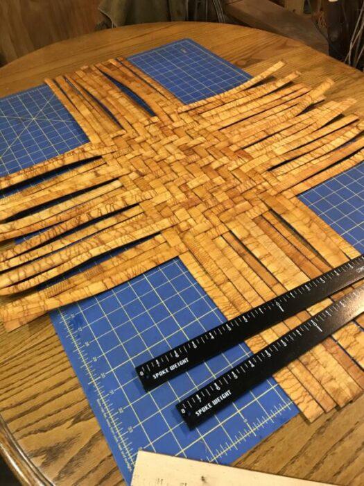 Base of the Cedar Yarn Basket