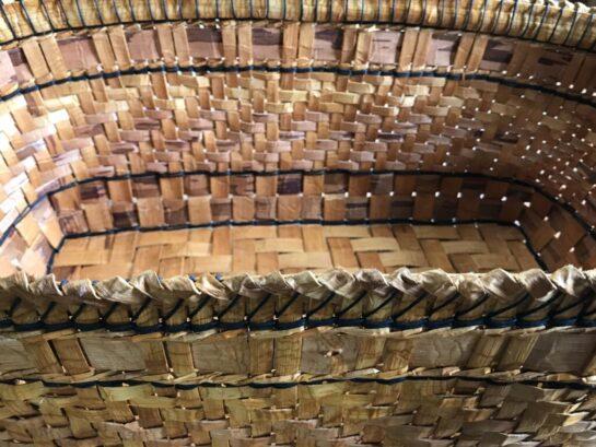 Detail: Cedar Yarn Basket