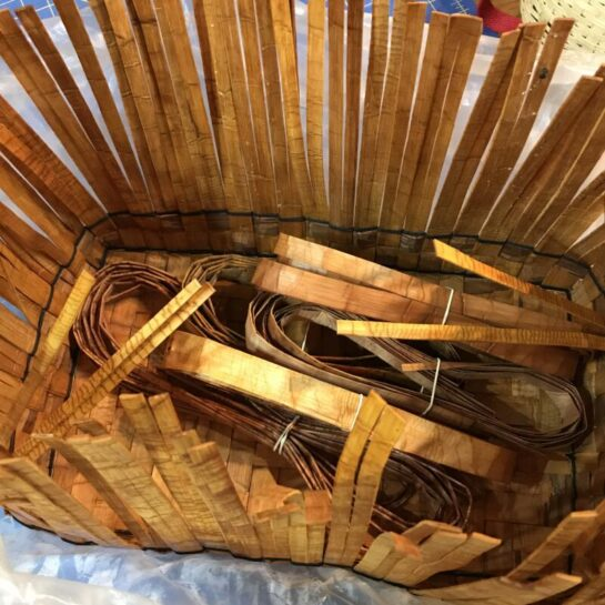 Cedar Basket Materials All Prepped